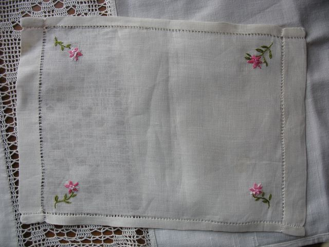 embroidered linen cloth