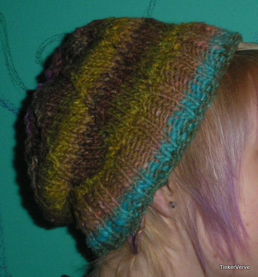 knitted hat side view