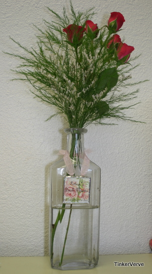 personalized vintage flower bottle