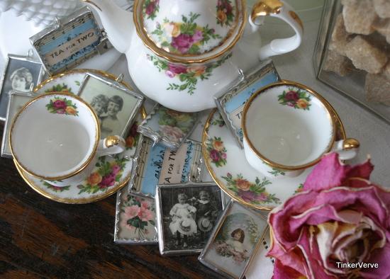 'tea' charms